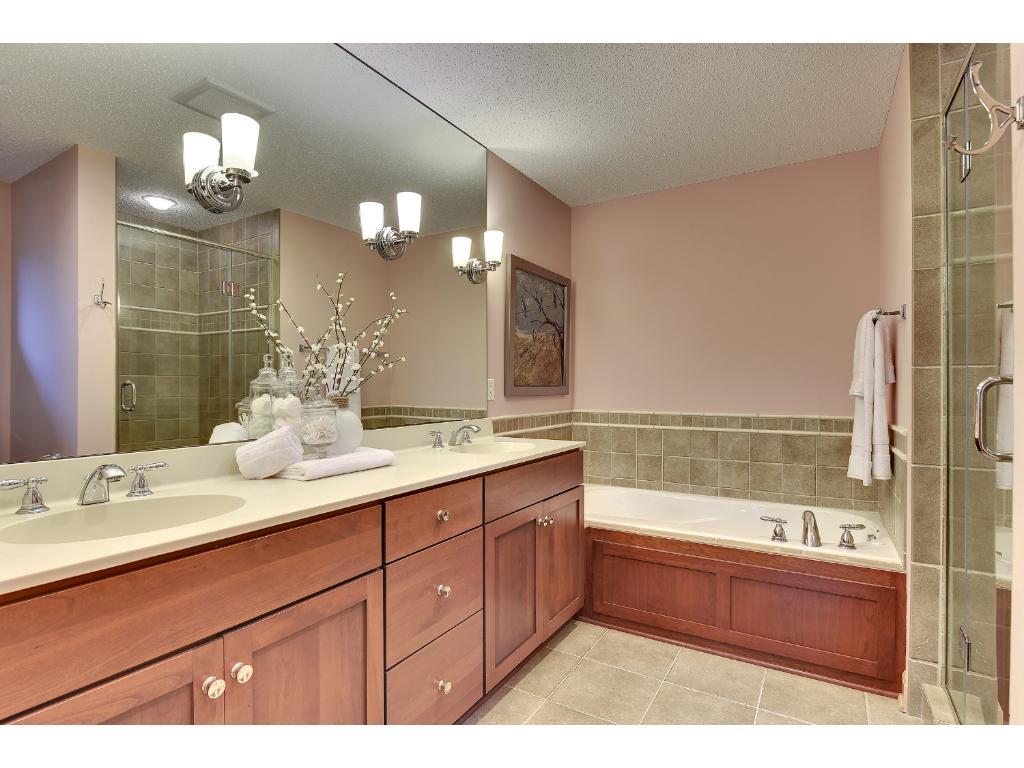 Owners suite bath...