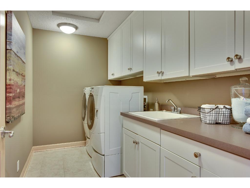 Upper level laundry room...