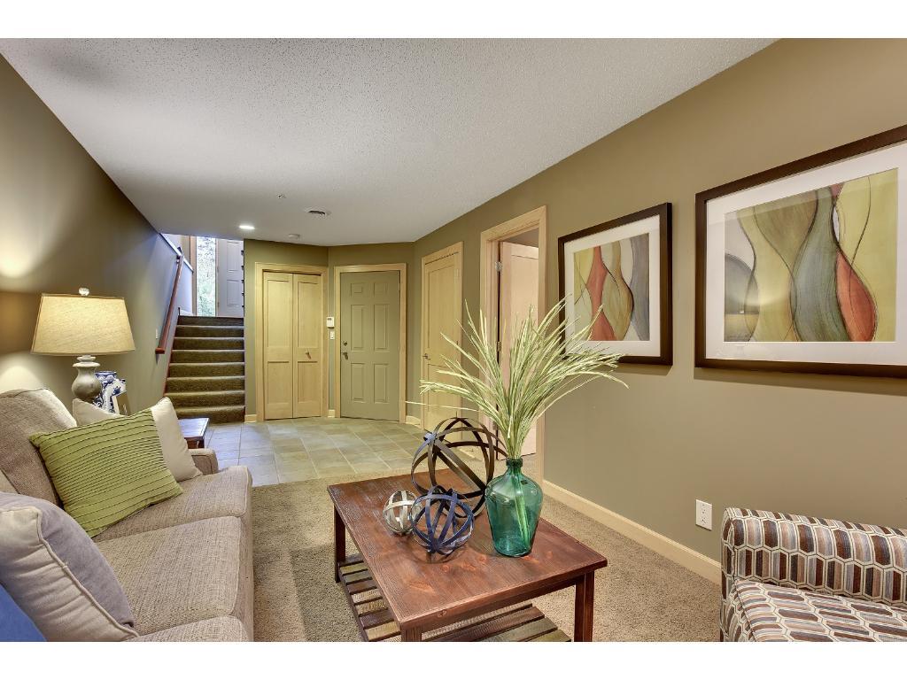 Cozy lower level den/family room...