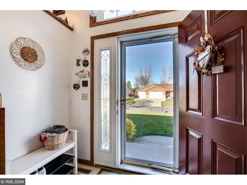 Main entryway of this split level home.