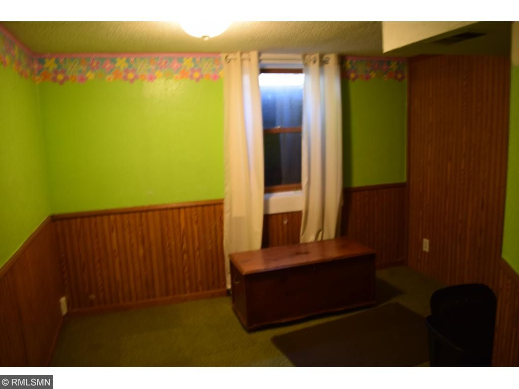 Lower level bedroom with egress window.