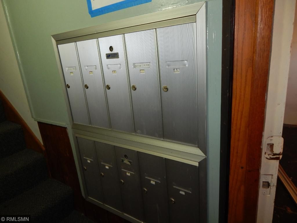 Mail boxes for 10 one bedroom units on levels 2 and 3.
