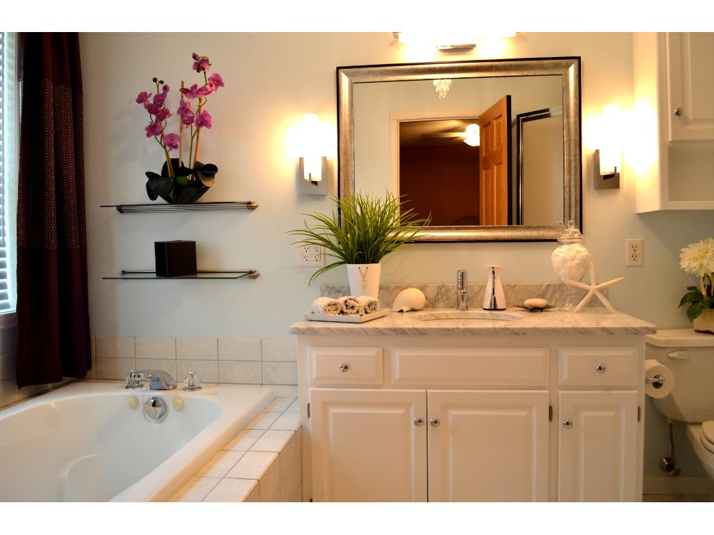 This main floor laundry/mud room is perfectly situated off the garage and is just steps away from the kitchen.