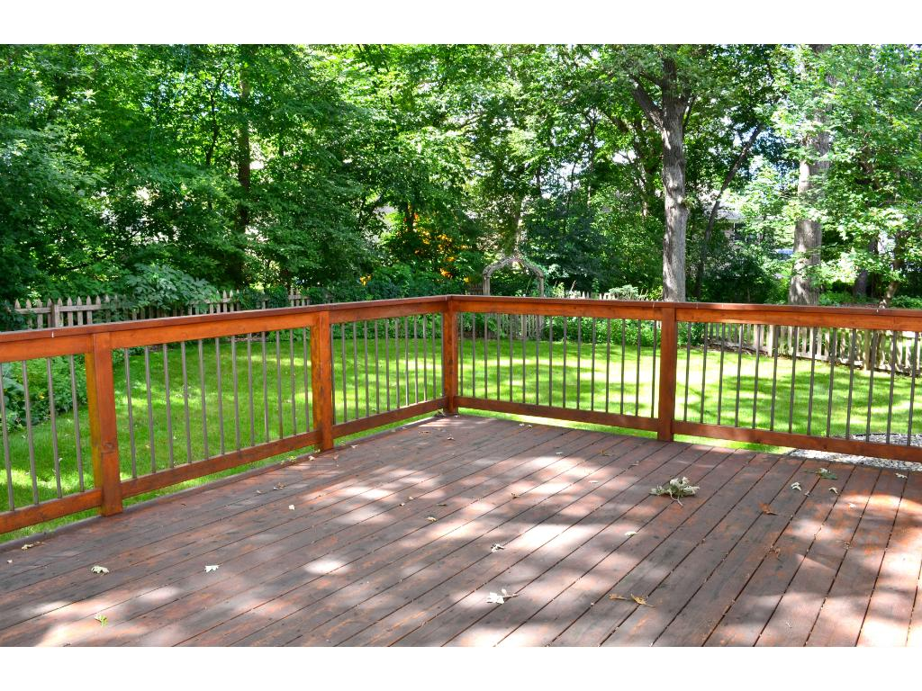 Enjoy warm evenings and sunny afternoons on the deck.
