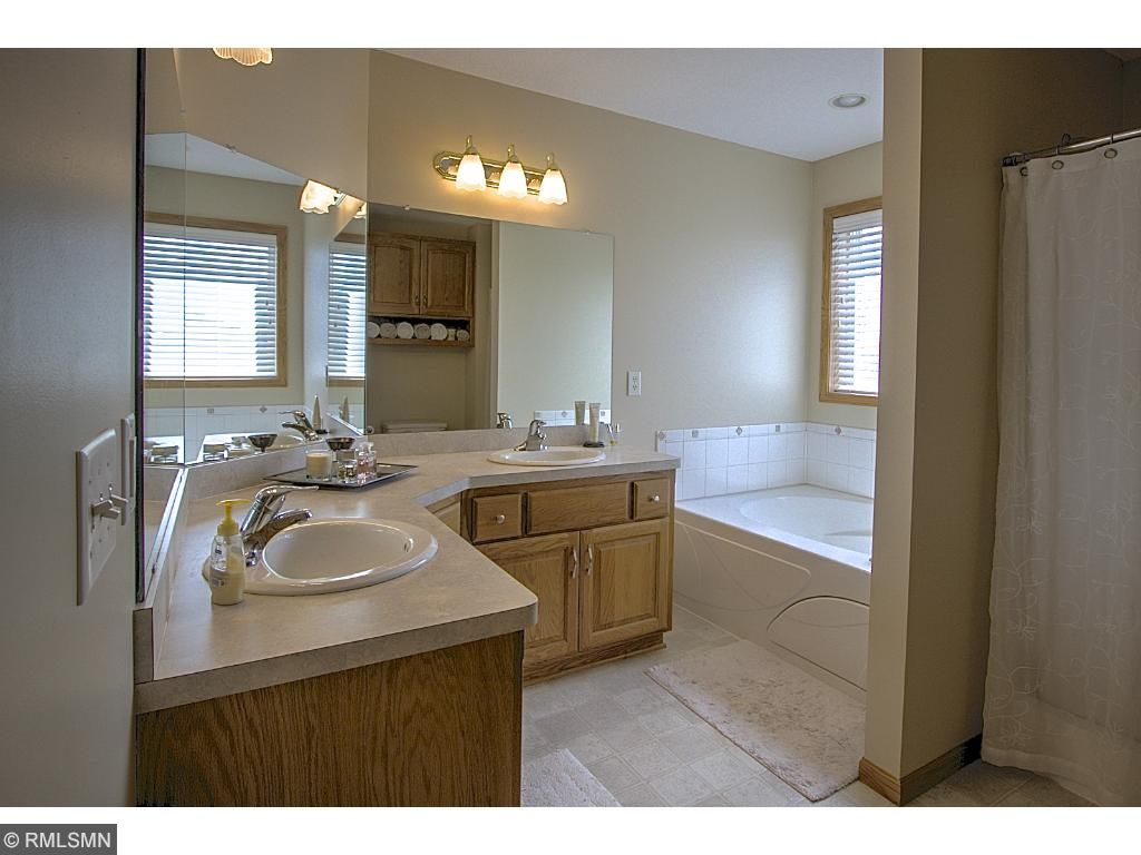 Large full bath with whirlpool tub and separate shower!