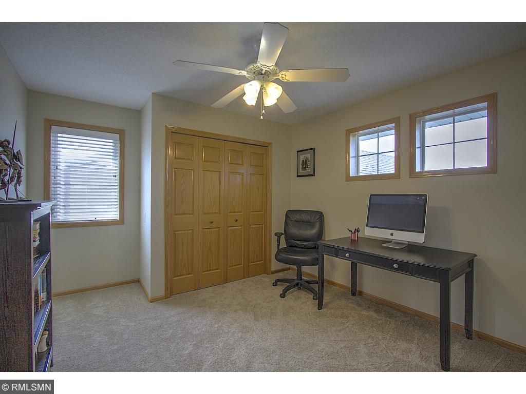 Another bedroom currently used as an office.  3 bedrooms on one level in this home!
