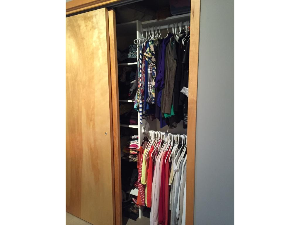 Master closet with built-ins