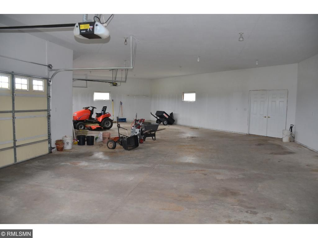 Large, insulated 4 car garage with plenty of room!!