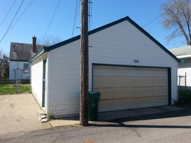 2 stall oversized garage.