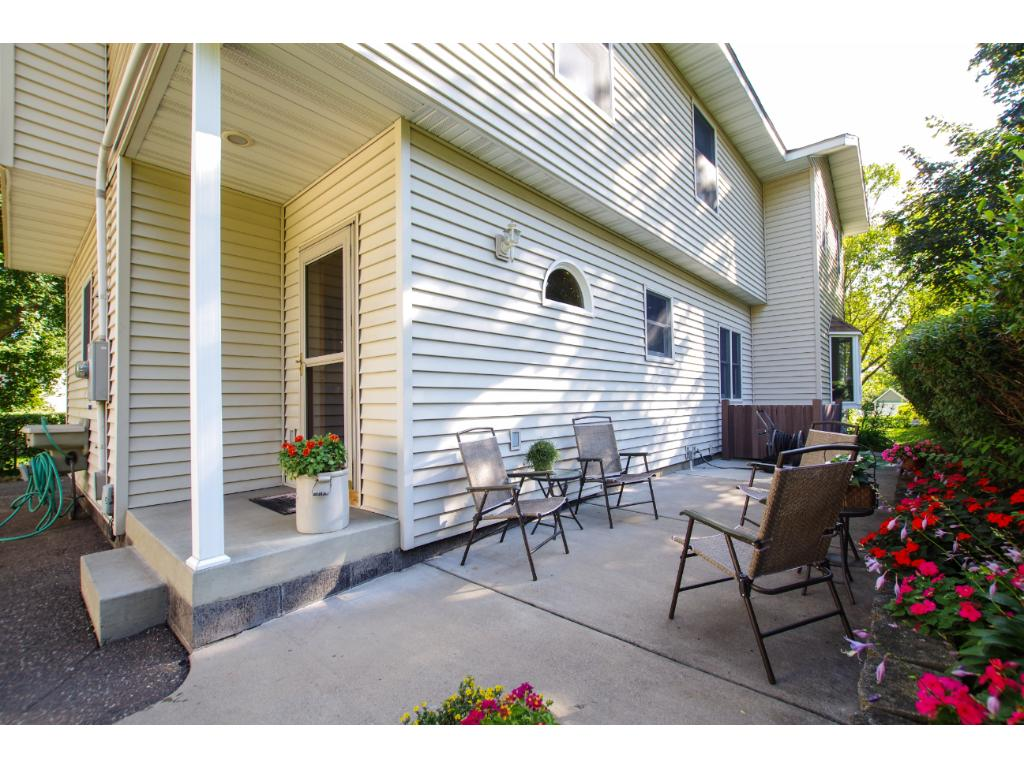 The backyard is private with a newer patio. Low to no maintenance in this home and yard!!