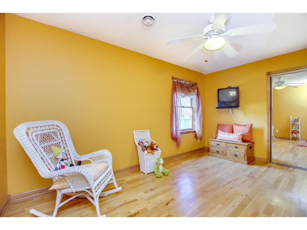 One of 4 bedrooms on the upper level. Lots of natural light. Home has newer windows, newer siding and roof and newer mechanicals.
