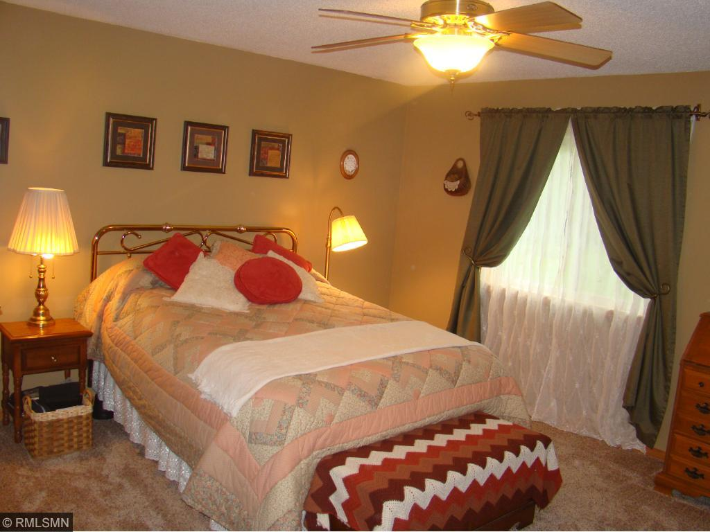 Large Master with walk in closet and 3/4 bath.