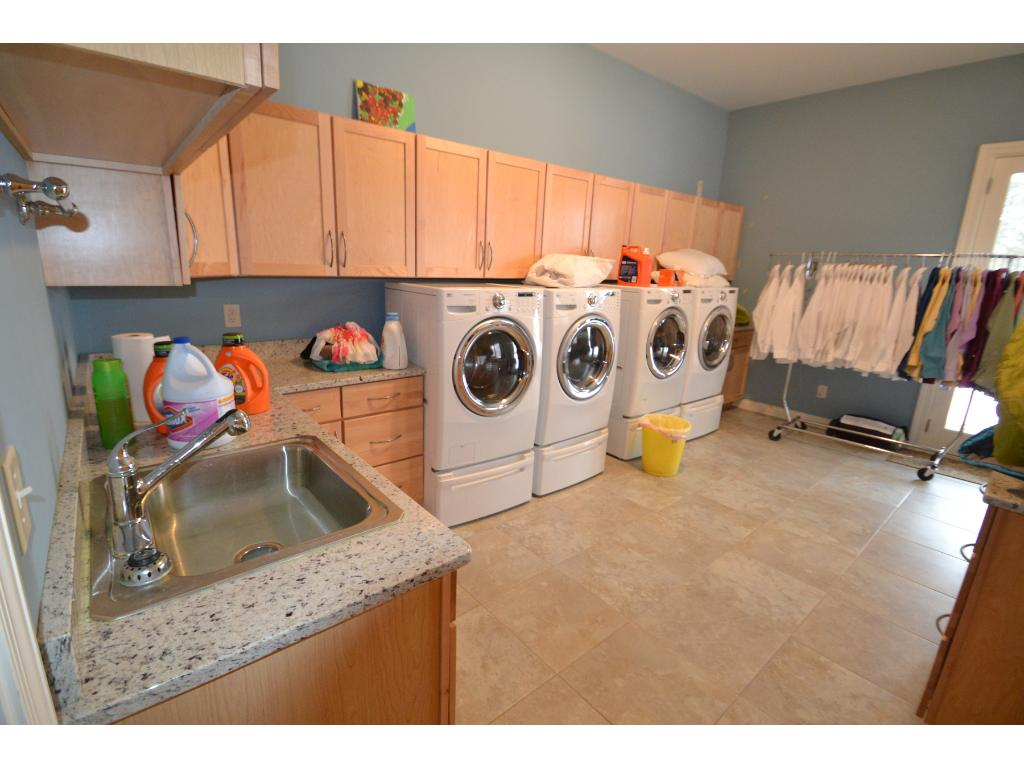 One of two laundry rooms