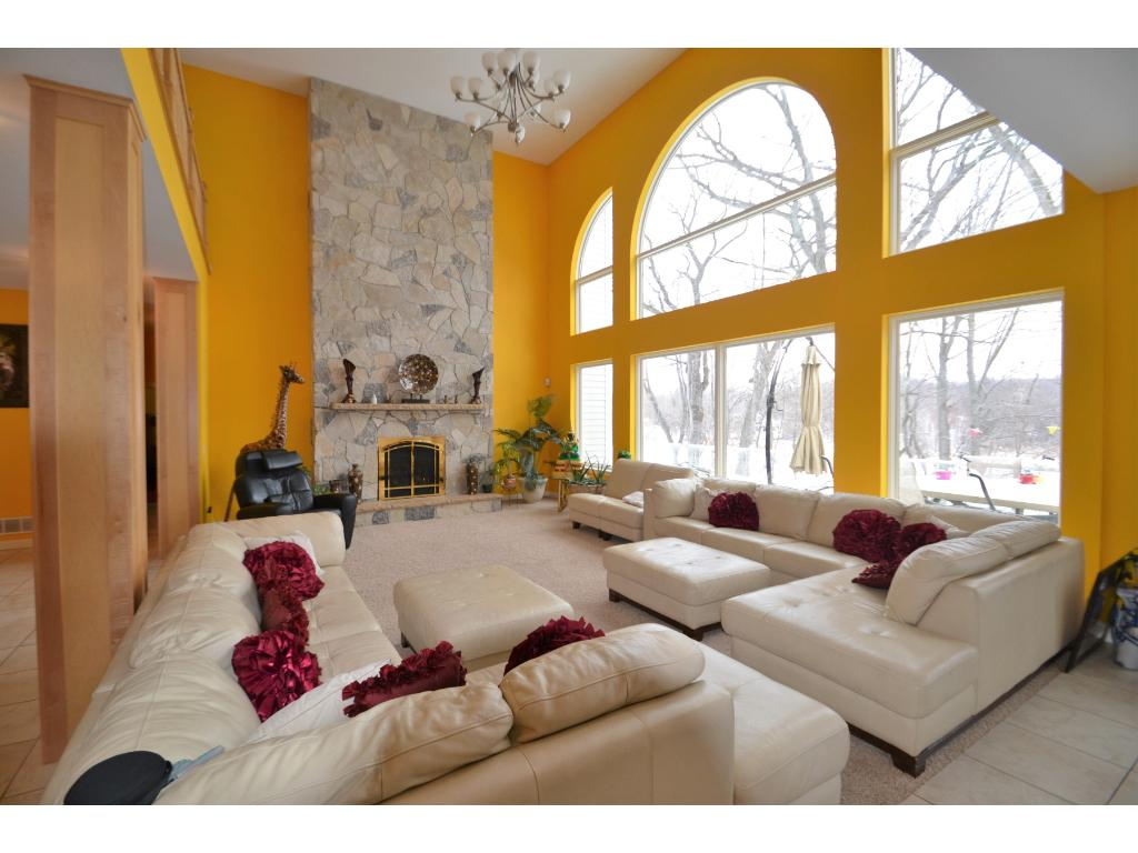 Huge Family room with a Gas Fireplace.