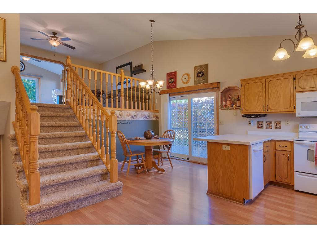 Walk into the Main Level Kitchen & Dining Area