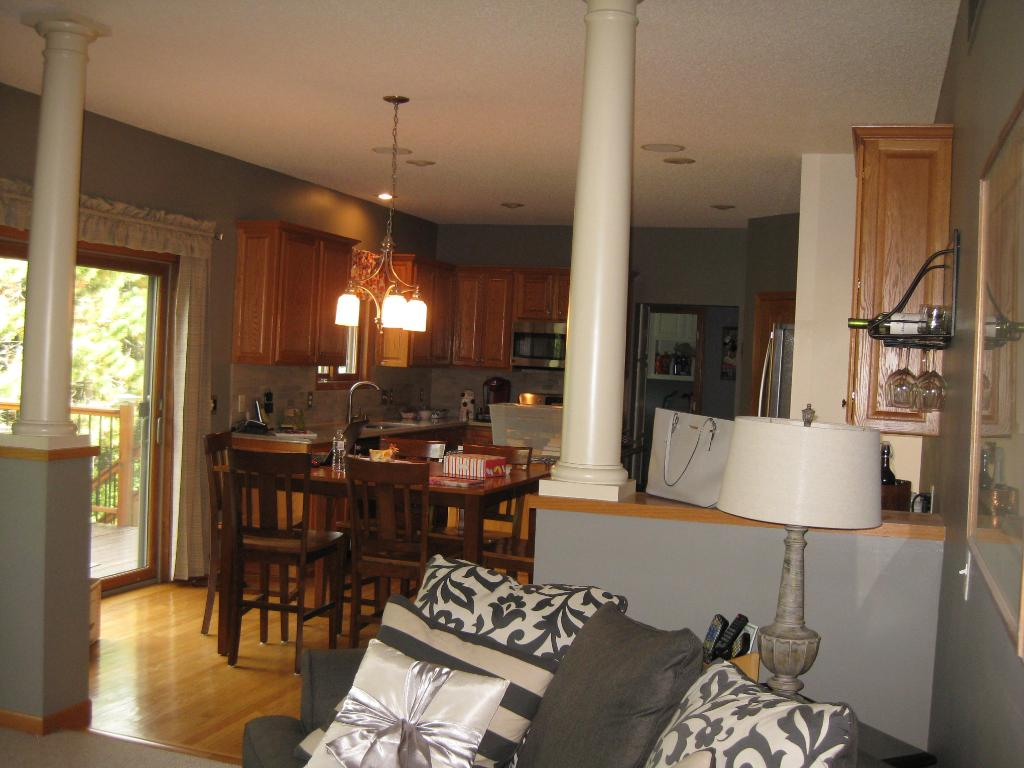View from Family room to Kitchen