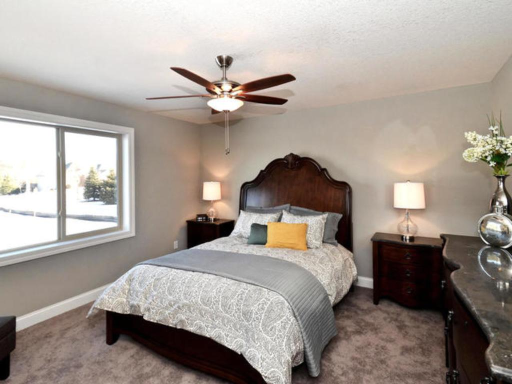 Master bedroom (pic from a previous model)