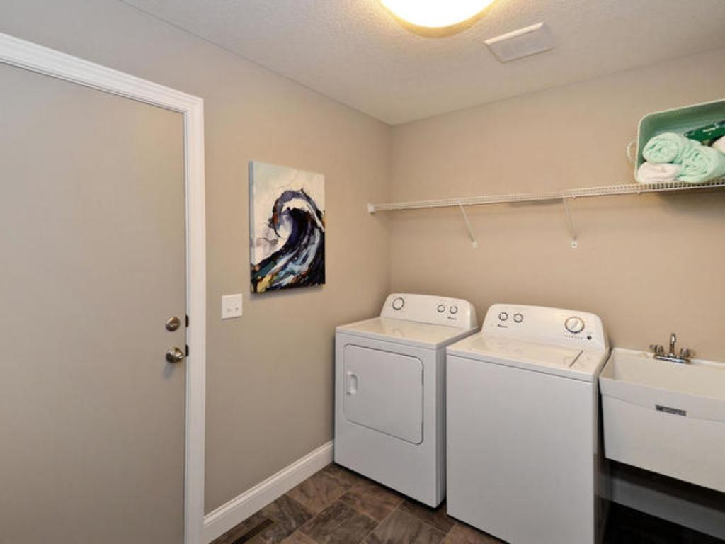 Main floor laundry (pic from a previous model)