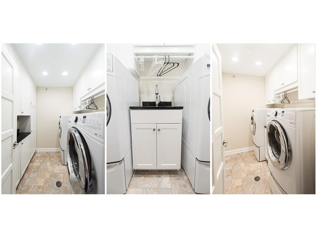 New energy efficient washer and dryer with pedestals stay!