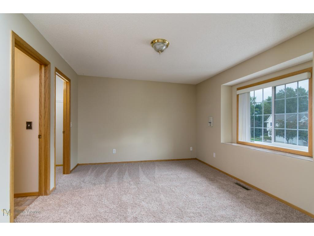 Spacious Master Bedroom with TWO walk in closets and a walk through to Bath!