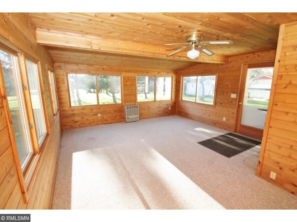 Wonderful knotty pine family room...