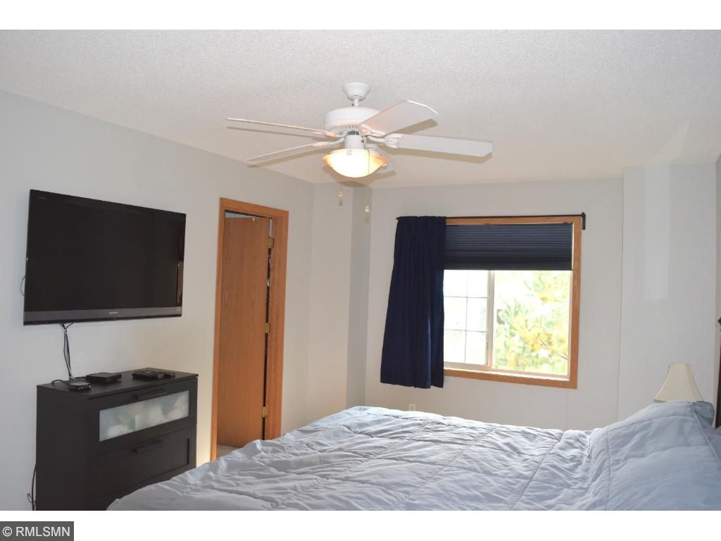 Master bedroom is spacious with walk-in closet.