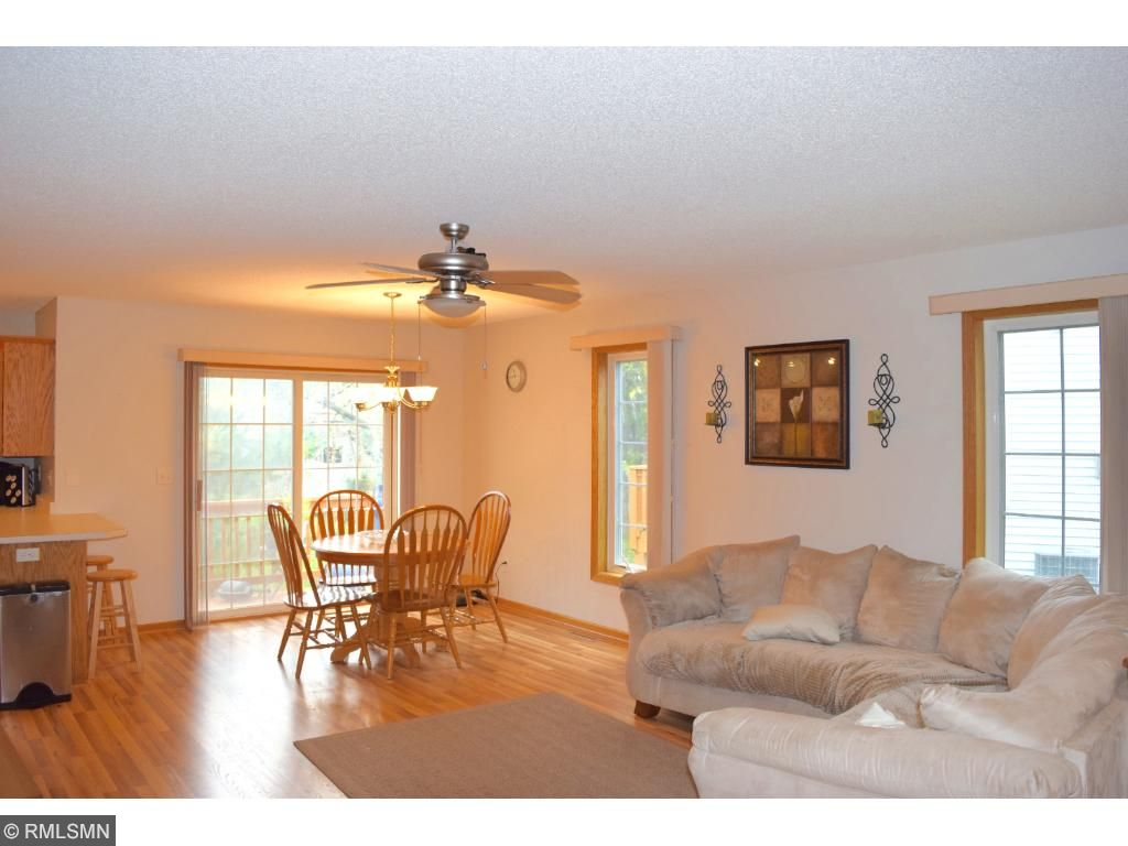 Open floor plan with brand new flooring and paint throughout the entire main level.