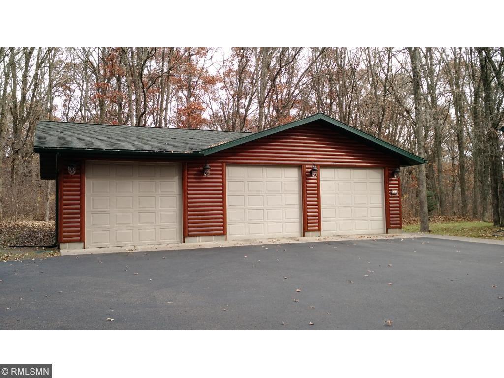 HUGE 28x42 3 car garage with electricity and door openers.