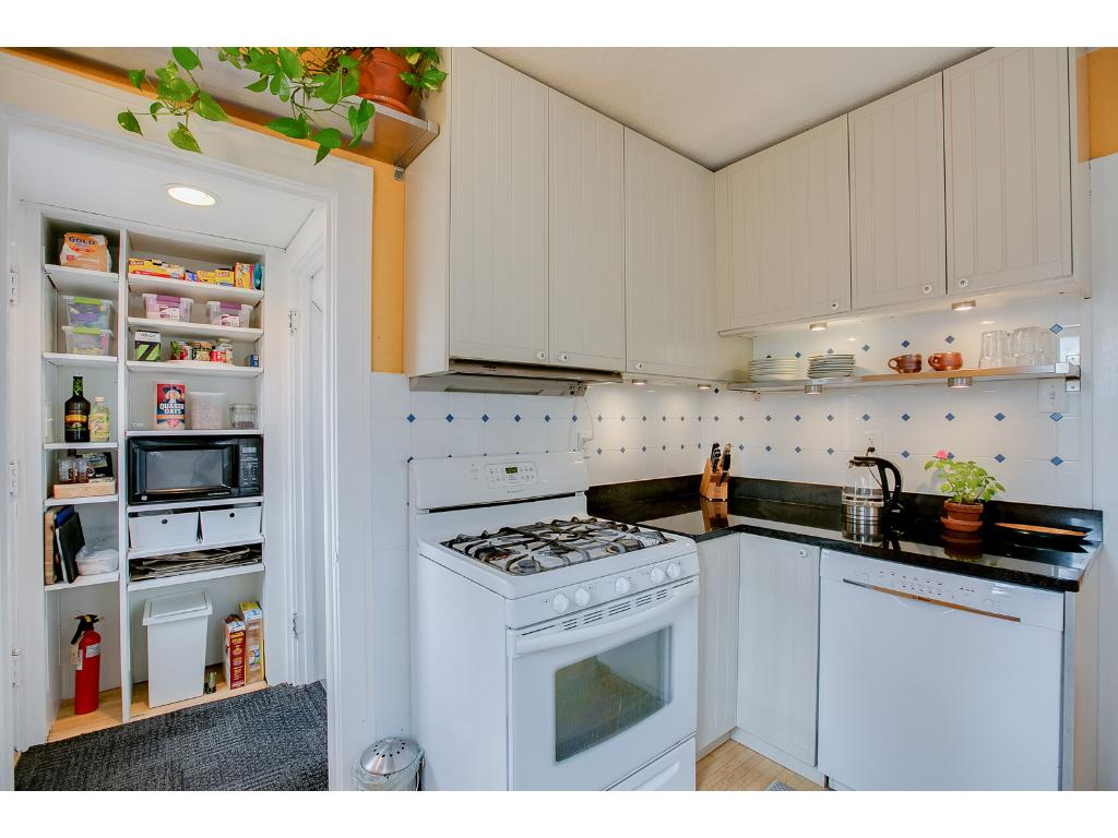 The kitchen also features granite countertops and an undermount stainless steel kitchen sink!