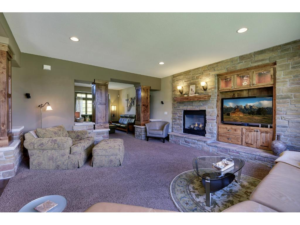 High ceilings, large windows, and custom built-ins. A relaxing room to unwind and spend quality time with friends and family.