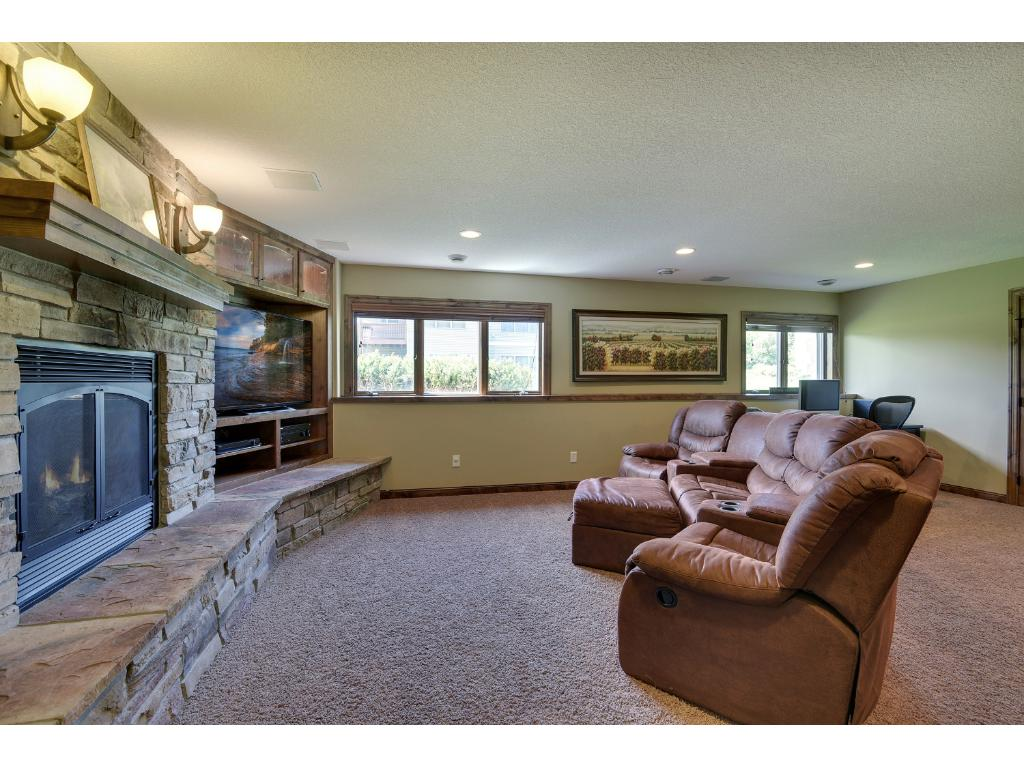 Another gas fireplace in the lower level warms the entire basement.