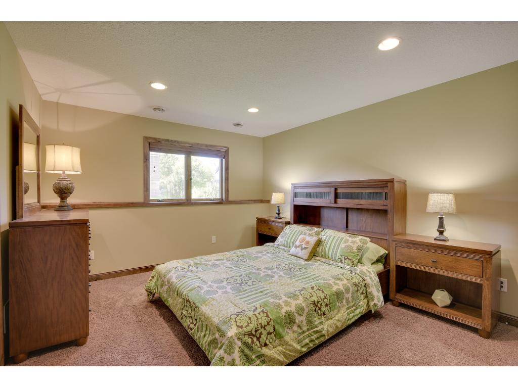 4th bedroom in the lower level, fantastic closets.