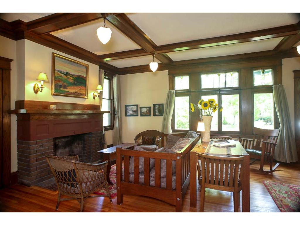 Here is the main level living room.  Note the woodwork and the ceiling fixtures.  This room is a pleasure to be in.