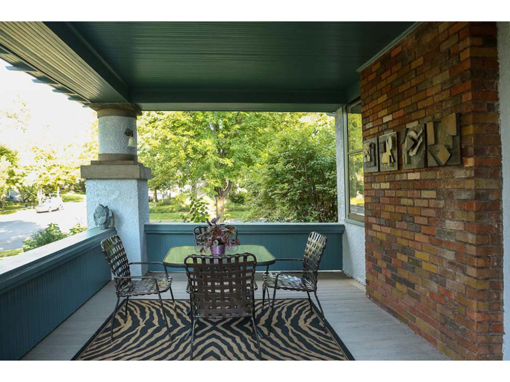 This porch is off the living room.  A great space to read or watch the world go by!