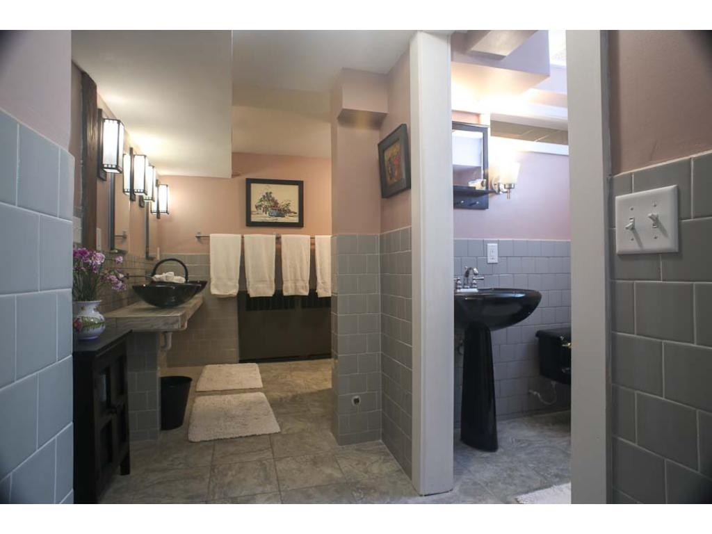 The lower level master bath.  Lovely isn't it?