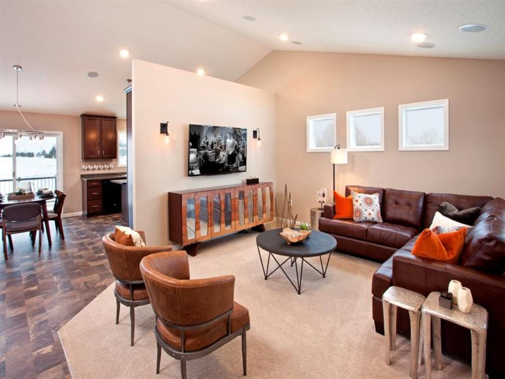 Family Room (Pictured is a staged model of this floor plan)