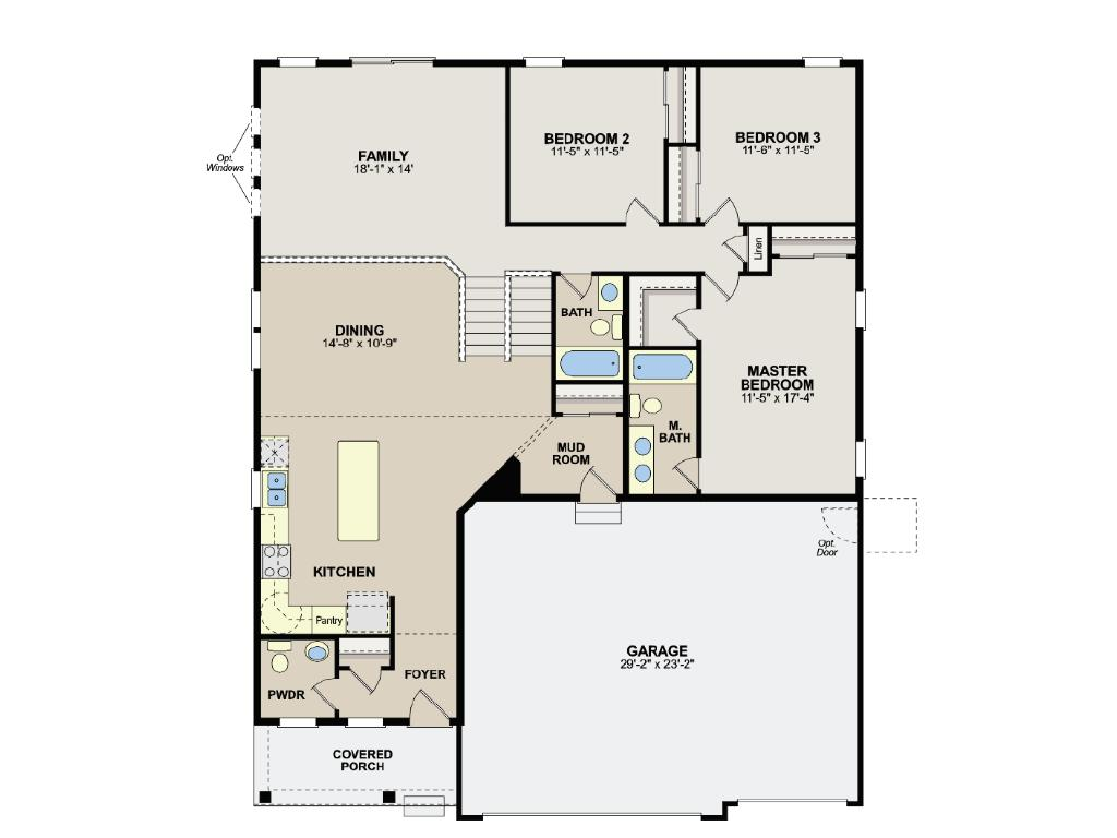 Main/Upper Floor Plan