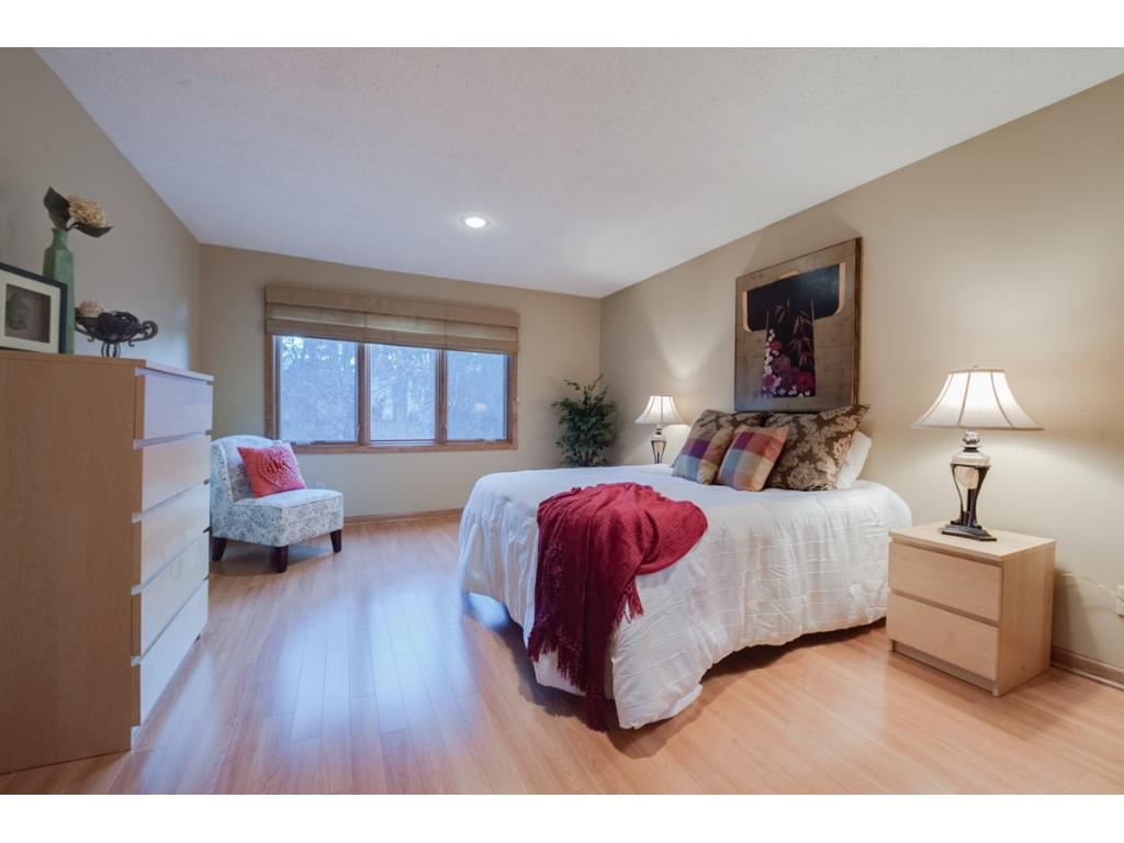 Large master bedroom with new designer master bath and closet.