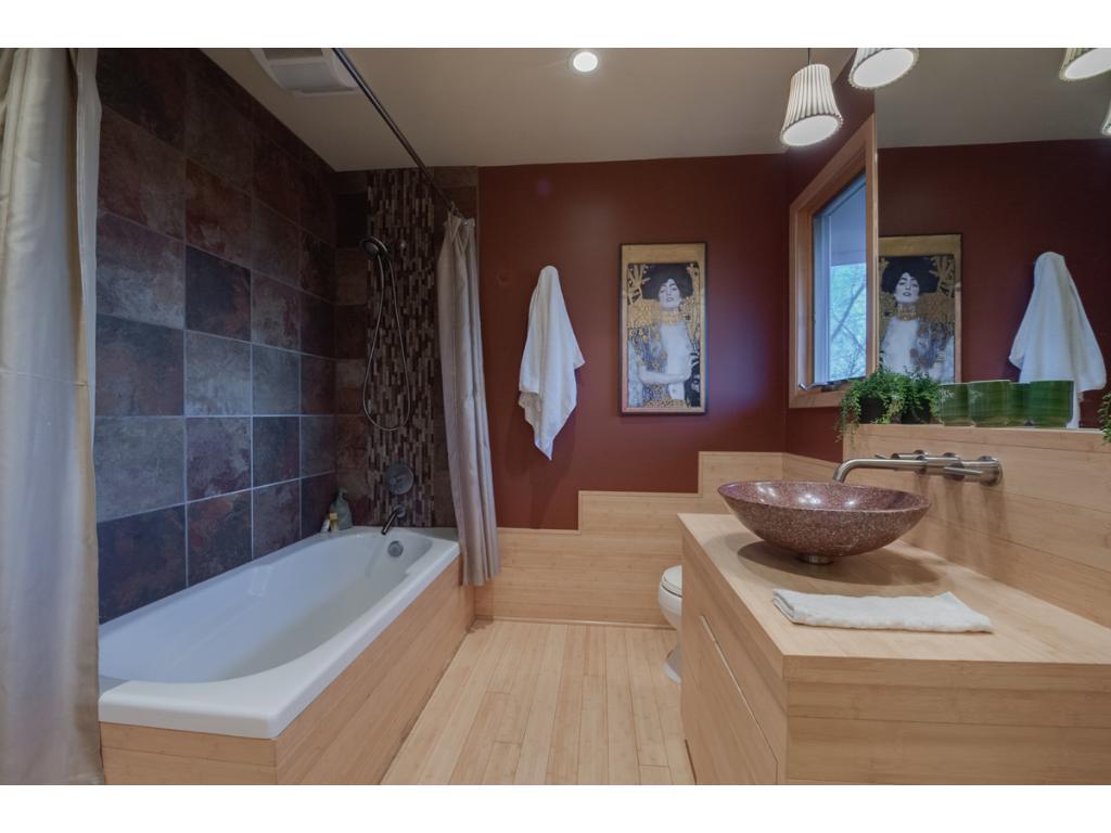 Designer master bath with that Zen feel.