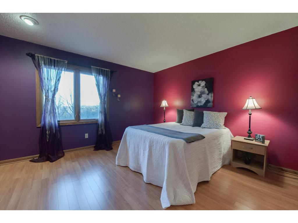 One of the 4 bedrooms on one floor.  Large rooms with generous closets.
