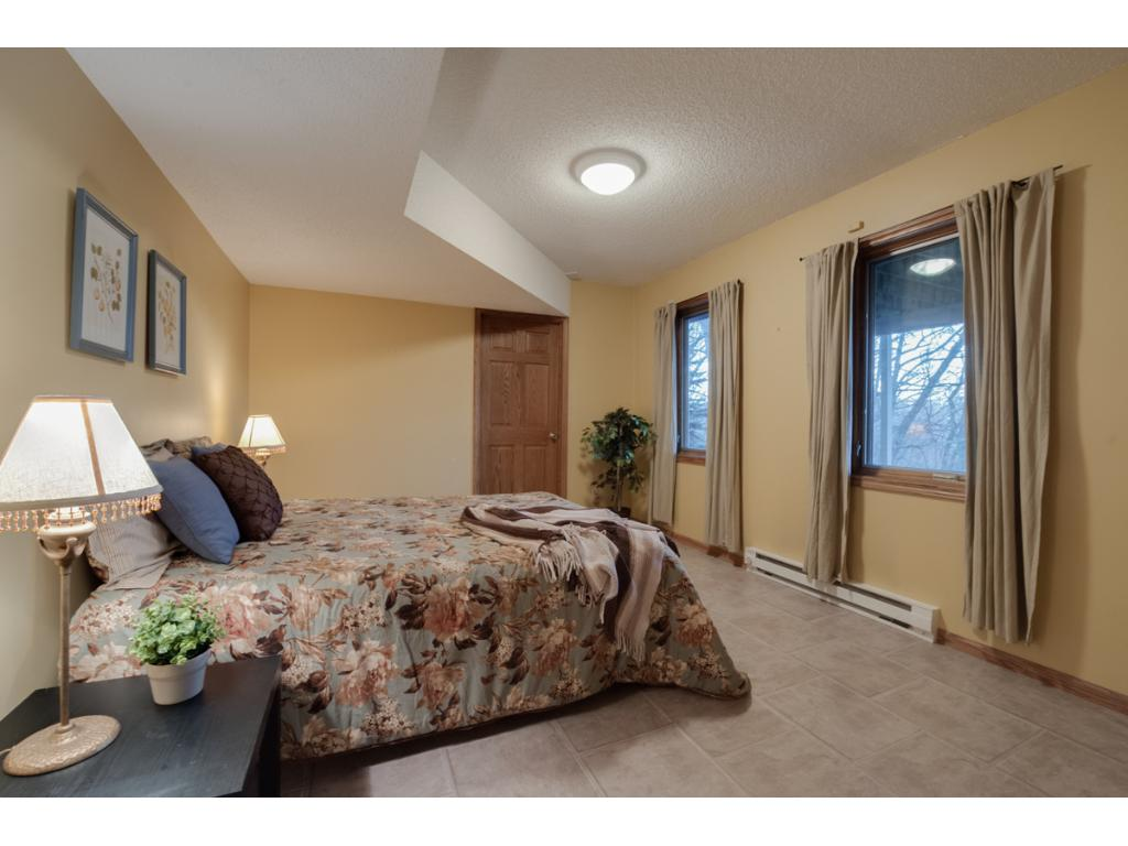 Generous size lower level bedroom.  Central heat throughout but the two main rooms in the lower level have supplemental heat for those extreme MN winters.