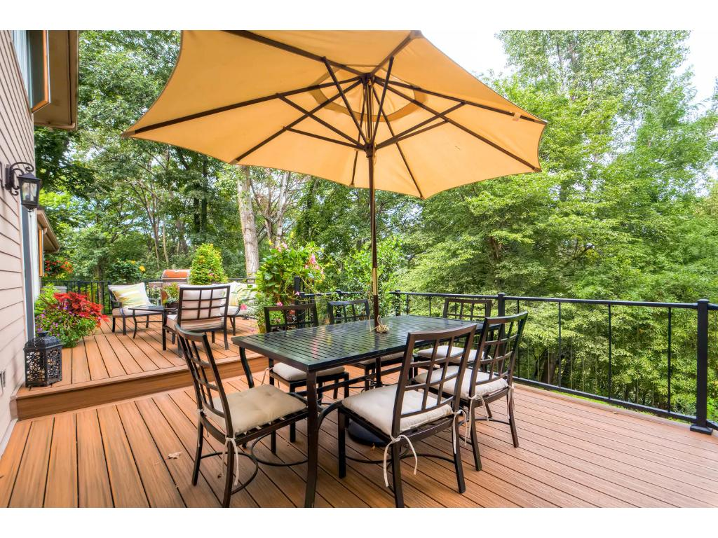 Brand new stunning maintenance-free deck.  Fabulous place to spend any part of your day.