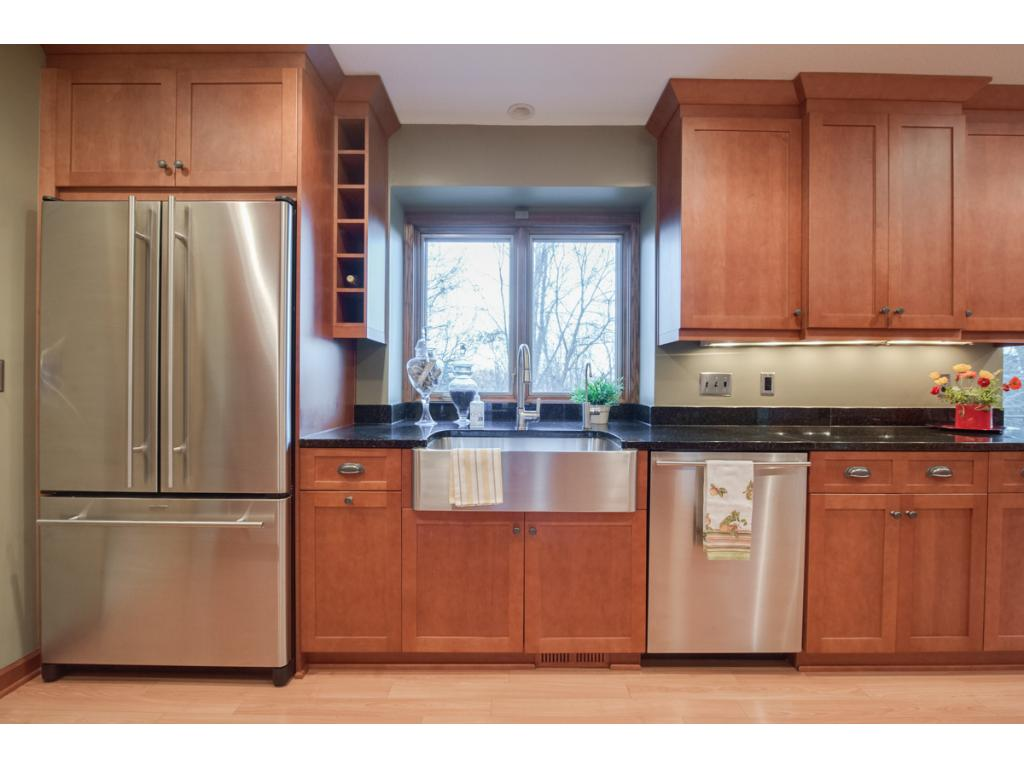 Cooks dream - granite counter tops.  The home is equipped with a whole-house de-chlorinator.