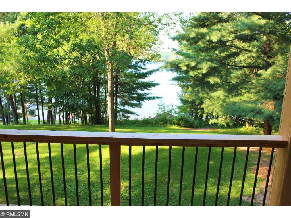View of the lake from the main house lakeside deck.
