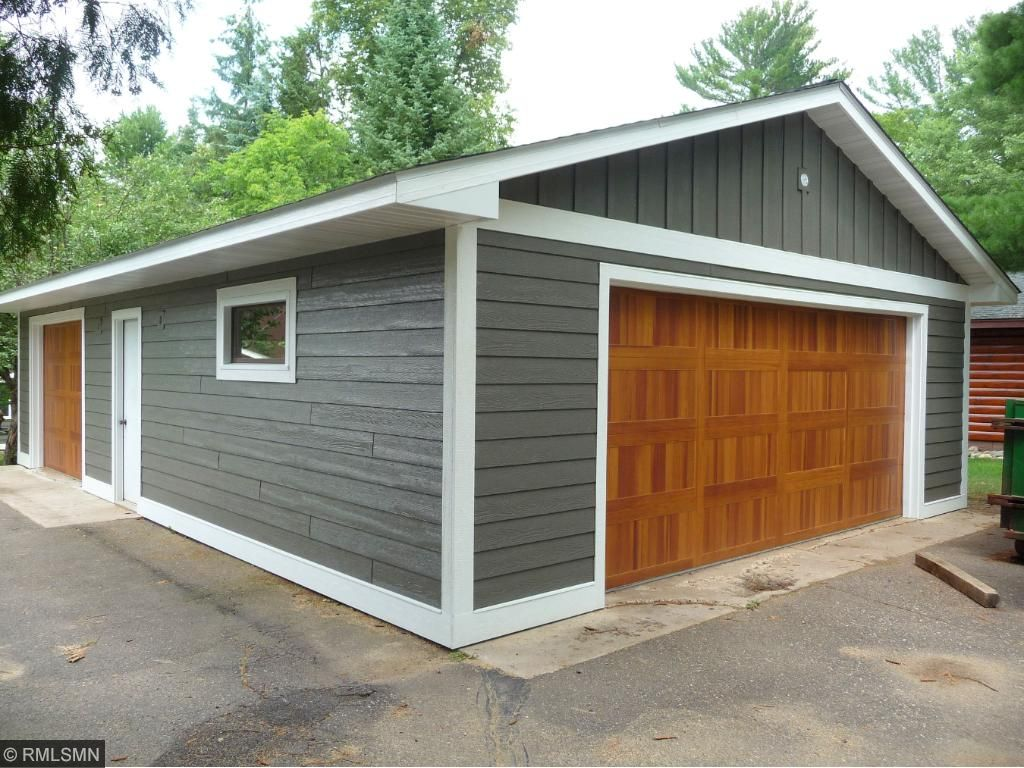 A 24 x 36 - 3 car detached garage with insulated garage doors and plenty of room for storage.