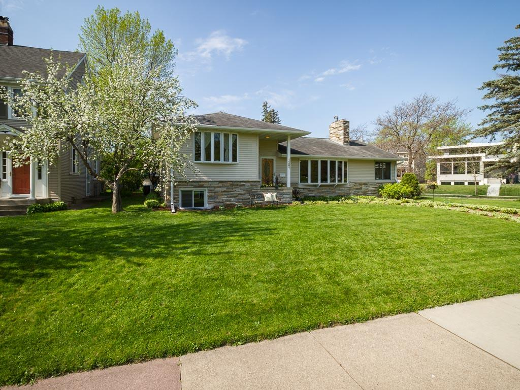 Fabulous home is located on Minnehaha Parkway and Minnehaha Creek. Spectacular view from inside your home and while outside enjoying the great location. Winner of Metro Bloom Awards!