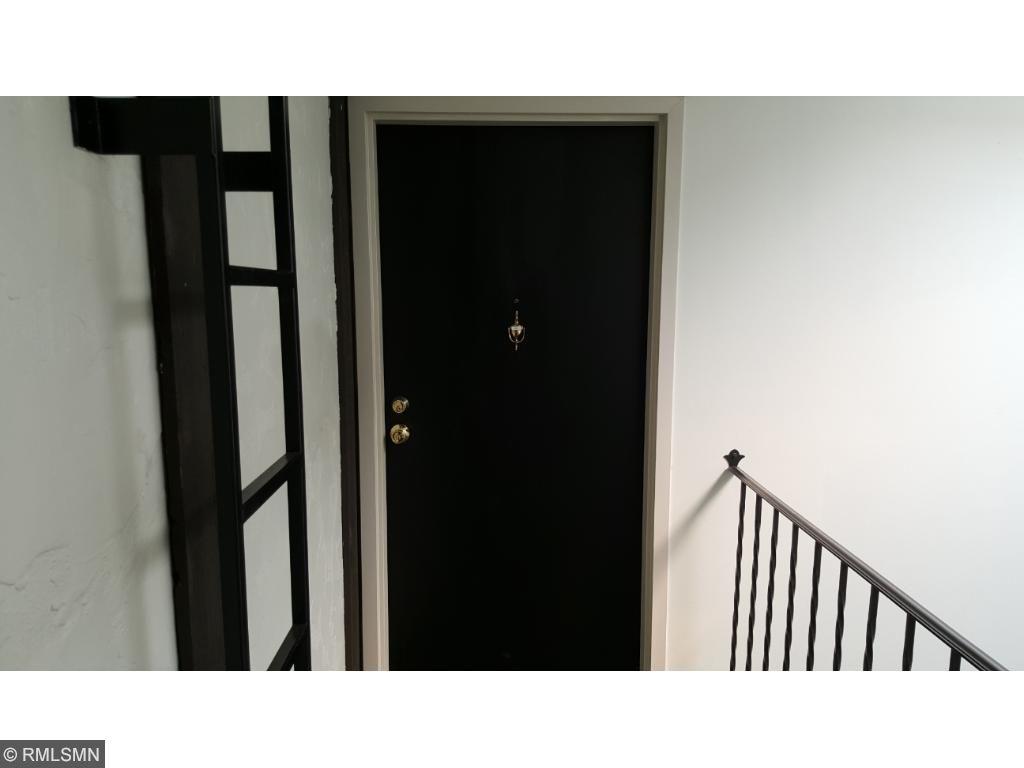 Front door of unit.