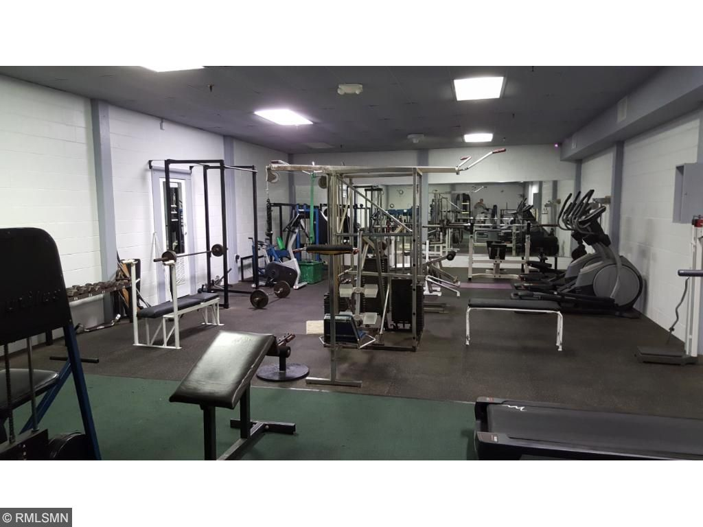 Workout area.