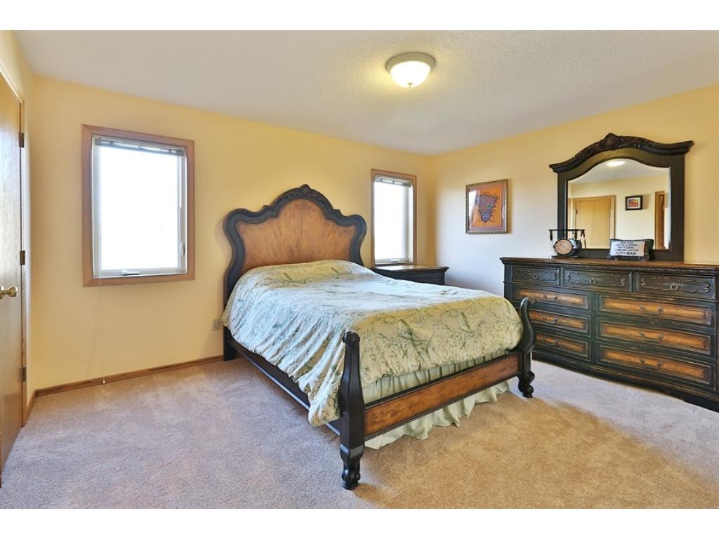 Very large owner's bedroom on the upper level with nice walk in closet.  The carpet on the upper level was new in 2013.