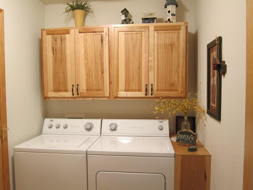 Laundry/Utility Room With Hickory Cabinets